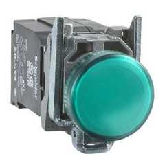 SEÑAL LUMINOSA METALICA VERDE LED 24VCA/CC XB4