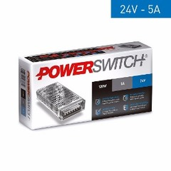 FUENTE SWITCH METAL 220/24V 4.5A/5A 120W